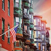 Historic North End Boston Massachusetts Art Print