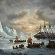 Hms Resolute In Search Of Sir John Franklin Art Print