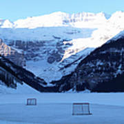 Hockey Net On Frozen Lake Art Print