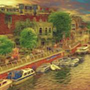 Hometown Glow Art Print