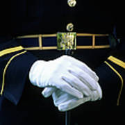 Honor Guard Holding Rifle, Arlington Art Print