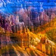 Hoodoo's Rainbow Color Mix Bryce Canyon  Art Print