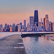 Hook Pier - North Avenue Beach - Chicago Art Print