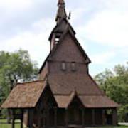 Hopperstad Stave Church Replica Art Print