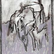Horse In A Field Art Print