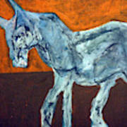Horse On Orange Art Print