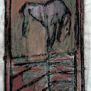 Horse Stables Art Print