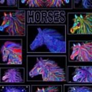 Horses Poster Art Print