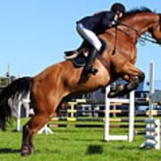 Horses Races Art Print