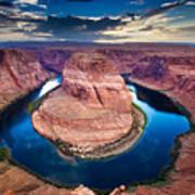 Horseshoe Bend, Canyon And Colorado Art Print