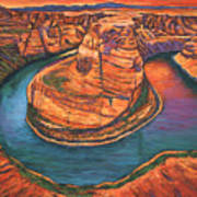 Horseshoe Bend Sunset Art Print