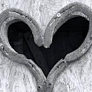 Horseshoe Heart Art Print