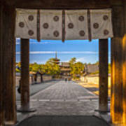 Horyu-ji Temple In Nara, Unesco World Art Print