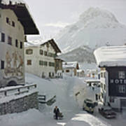 Hotel Krone, Lech Art Print