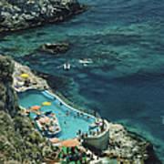 Hotel Taormina Pool Art Print