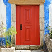 House With Red Door Art Print