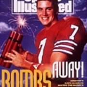 Houston Qb David Klingler, 1991 College Football Preview Sports Illustrated Cover Art Print