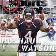 Houston Texans Deshaun Watson, 2018 Nfl Football Preview Sports Illustrated Cover Art Print