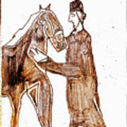 How The Camel Got His Hump Digital And Drawings D4-1 Art Print
