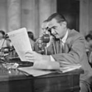 Howard Hughes Testifying During Senate Art Print