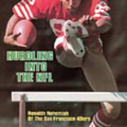 Hurdling Into The Nfl Renaldo Nehemiah Of The San Francisco Sports Illustrated Cover Art Print