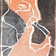 I Was Born In A Mine Woodcut 75 Art Print