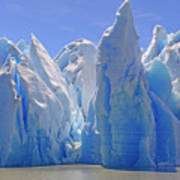 Ice Castles On A Sunny Day At The Grey Art Print