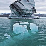 Icebergs On Jokulsarlon Glacial Lagoon Art Print