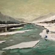 Icey River Art Print