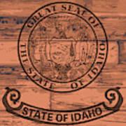 Idaho State Flag Brand Art Print