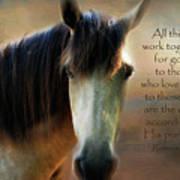 If Horses Could Talk - Verse Art Print