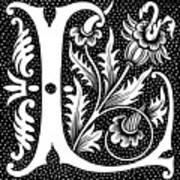 Illuminated Letter L Art Print