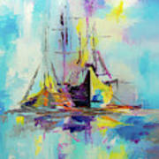 Illusive Boats Art Print