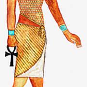 Illustration Of Ancient Egyptian God Of Art Print