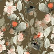 Imprint Fantastic Paint Bouquet. Hand Art Print