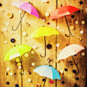 In Rainy Fashion Art Print