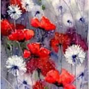 In The Night Garden - Sleeping Poppies Art Print