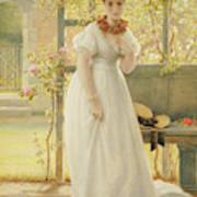 In The Walled Garden, 1869 Art Print