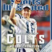 Indianapolis Colts Qb Peyton Manning, Super Bowl Xli Sports Illustrated Cover Art Print
