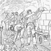 Inside A Cheshire Salt Mine, 1889 Art Print