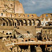 Interior Of The Colosseum, Rome, Italy Art Print