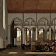 Interior Of The Oude Kerk  Amsterdam  Art Print