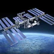 International Space Station Iss Art Print