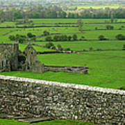 Ireland Country Scape With Castle Ruins Art Print