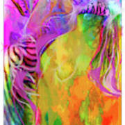 Iris Psychedelic  Art Print
