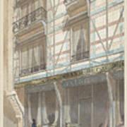 Iron Frame House With Glazed Earthenware  Art Print