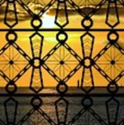 Iron Lattice Pattern St Malo Sunset Art Print