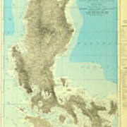 Island Of Luzon - Old Cartographic Map - Antique Maps Art Print