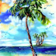 Island Solitude Palm Tree And Sunny Beach Art Print