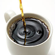 Isolated Shot Of Pouring A Fresh Coffee Art Print